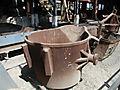 Bronze retort for copper smelting
