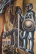 Mural detail - dog of war
