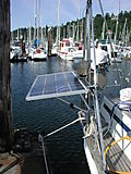 Solar panel, deployed