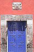Blue door sun