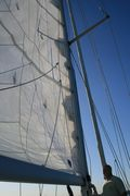 Snug Harbor Sails' main sail repair 2
