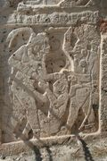 Back of palace - panels of warriors with victim 3