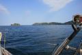 Isla Medidor as we head WNW to Islas Secas