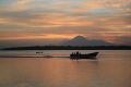 Estero sunrise w-pangas and Volcan San Cristobal  4-12-2014
