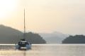 Bahia Honda sunrise with sailling cat Letitgo  3-26-2014
