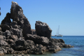 Anchored among the rocky bits