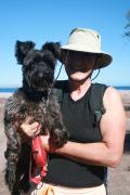 Darlene and Scruffy enjoying a  walk at Agua Verde  12-7-2016