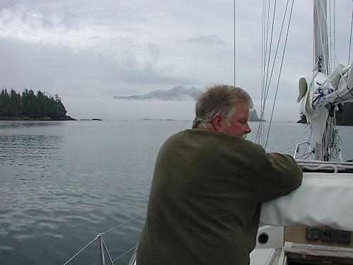 Queen Cove departure into fog - GB not amused
