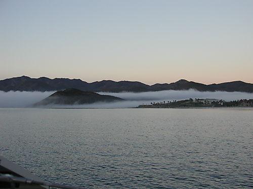 Ensenada de los Muertos - morning fog