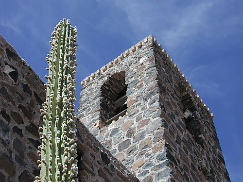 Mulege cardon and mission dentils